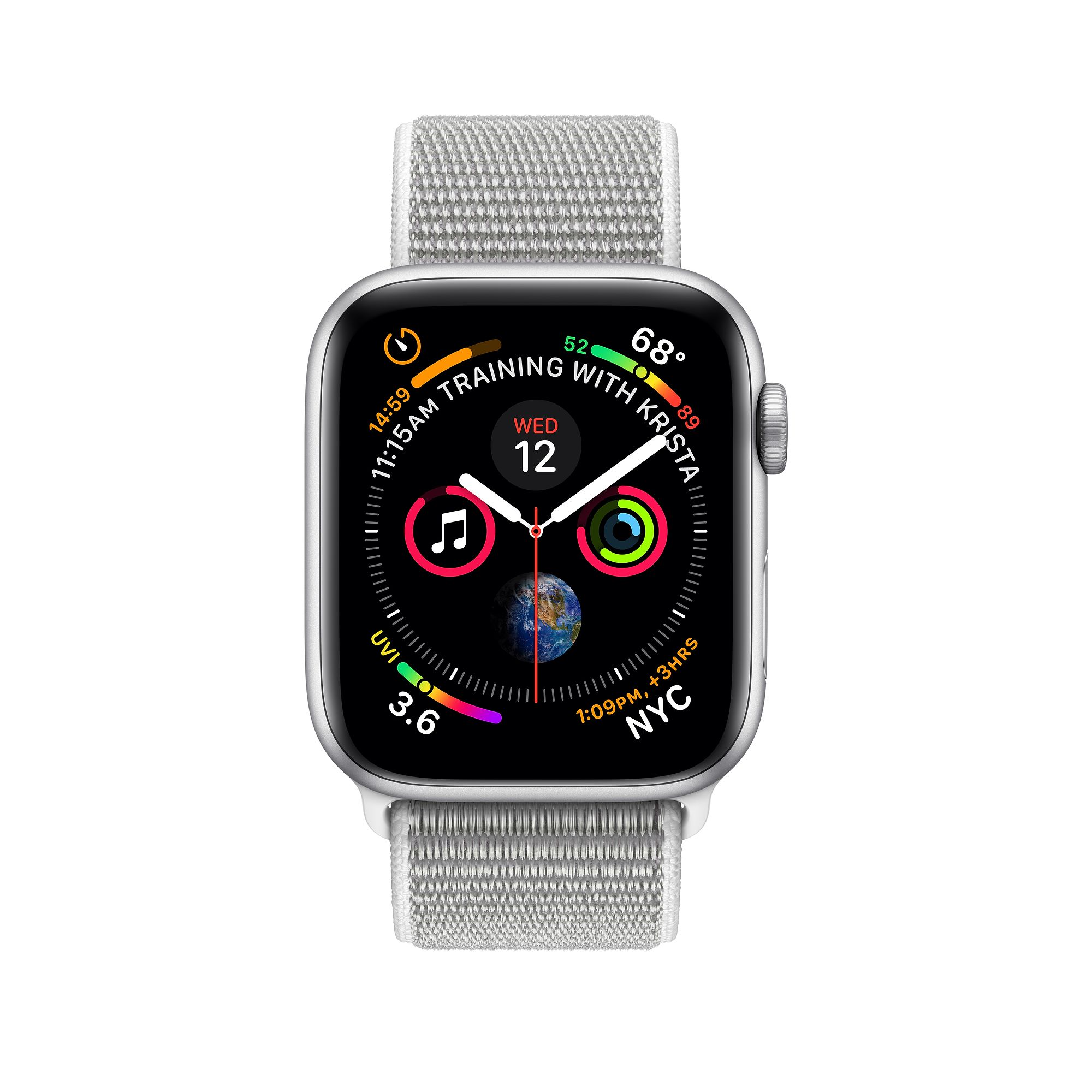 Hodinky Apple Watch Series 4 40mm Silver/Seashell Sport Loop MU652HC/A